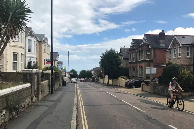 Atherley Road, leading up to Shanklin Station.