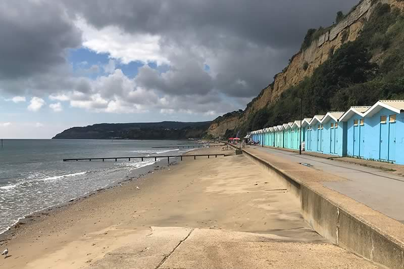 Beach huts at Sandown