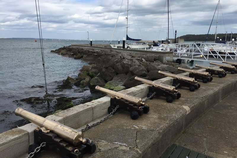 Cannons on Cowes Seafront
