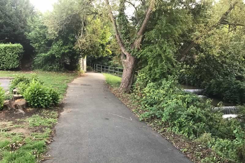 Cycle path alongside the River Medina