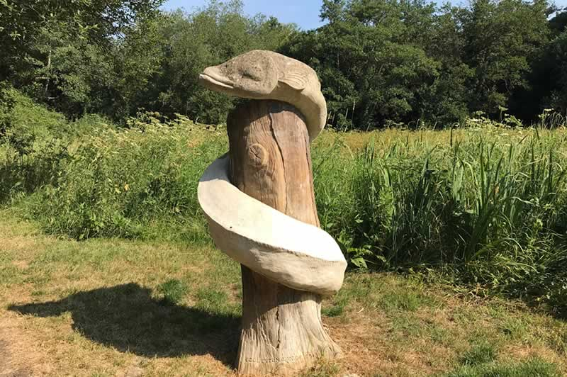 Sculpture at Pan Mill Meadows.