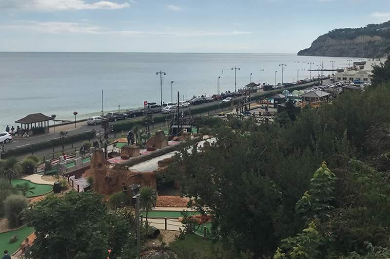 View over Shanklin Esplanade
