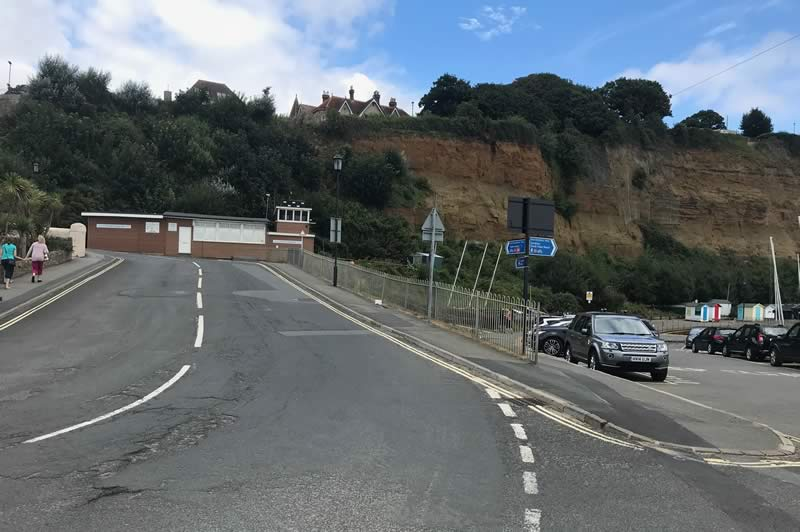 Hope Road - the steep climb up from the sea front at Shanklin.