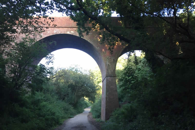 Bridge over the cycle track.